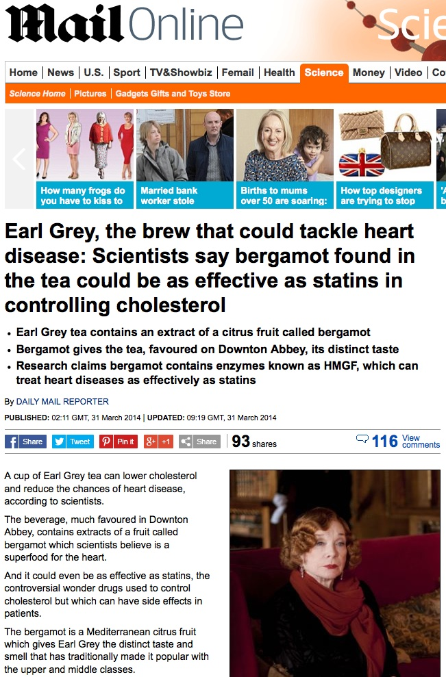 Daily Mail On Bergamot